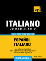 Vocabulario Español-Italiano