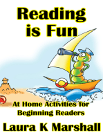 Reading is Fun At Home Activities for Beginning Readers