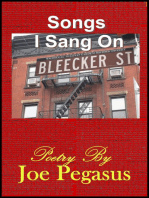 Songs I Sang On Bleecker St.