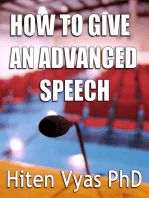 How to Give an Advanced Speech