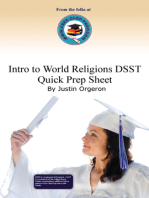 Introduction to World Religions DSST Quick Prep Sheet
