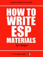 How To Write ESP Materials