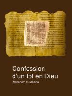 Confession d'un fol en Dieu