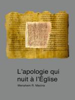 L'apologie qui nuit à l'Eglise