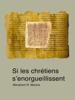 Si les chrétiens s'enorgueillissent. À propos de la mise en garde de l'apôtre Paul (Rm 11, 20)