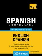 Spanish Vocabulary for English Speakers: 3000 Words