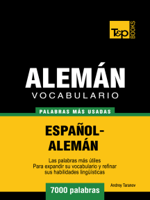 Vocabulario Español-Alemán: 7000 Palabras Más Usadas