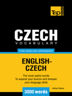 Czech vocabulary for English speakers: 3000 words