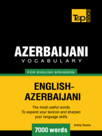 Azerbaijani Vocabulary for English Speakers: 7000 Words