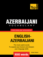 Azerbaijani Vocabulary for English Speakers