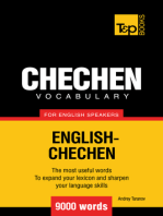 Chechen Vocabulary for English Speakers: 9000 Words