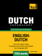 Dutch vocabulary for English speakers: 7000 words