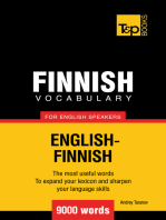 Finnish Vocabulary for English Speakers