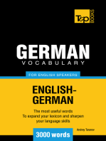 German Vocabulary for English Speakers