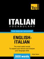Italian Vocabulary for English Speakers