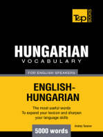 Hungarian Vocabulary for English Speakers: 5000 Words