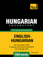 Hungarian Vocabulary for English Speakers