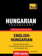 Hungarian Vocabulary for English Speakers: 9000 Words