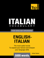 Italian Vocabulary for English Speakers: 5000 Words