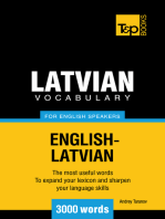 Latvian vocabulary for English speakers: 3000 words