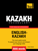 Kazakh Vocabulary for English Speakers