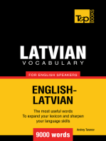 Latvian vocabulary for English speakers