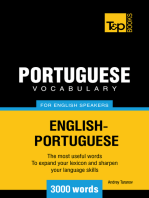 Portuguese Vocabulary for English Speakers: 3000 words