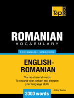 Romanian Vocabulary for English Speakers: 3000 words
