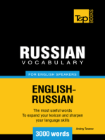 Russian Vocabulary for English Speakers