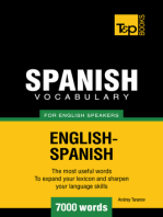 Spanish Vocabulary for English Speakers: 7000 words
