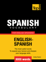 Spanish Vocabulary for English Speakers: 9000 words