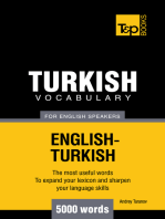 Turkish Vocabulary for English Speakers: 5000 words