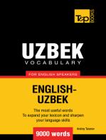 Uzbek Vocabulary for English Speakers