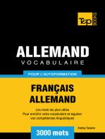 Vocabulaire Français-Allemand pour l'autoformation