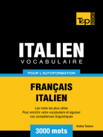 Vocabulaire Français-Italien pour l'autoformation