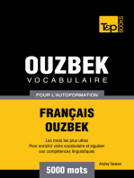 Vocabulaire Français-Ouzbek pour l'autoformation