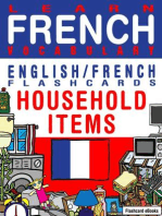 Learn French Vocabulary: Household items - English/French Flashcards