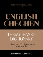 Theme-Based Dictionary: British English-Chechen - 7000 words
