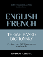 Theme-Based Dictionary: British English-French - 5000 words