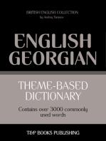 Theme-Based Dictionary: British English-Georgian - 3000 words