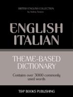 Theme-Based Dictionary: British English-Italian - 3000 words