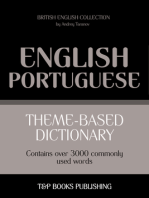 Theme-Based Dictionary: British English-Portuguese - 3000 words