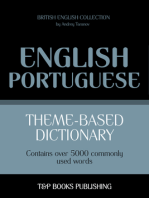 Theme-Based Dictionary: British English-Portuguese - 5000 words