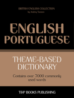 Theme-Based Dictionary: British English-Portuguese - 7000 words
