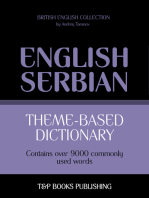 Theme-Based Dictionary: British English-Serbian - 9000 words