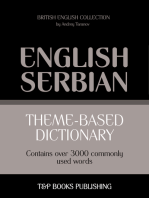 Theme-Based Dictionary: British English-Serbian - 3000 words