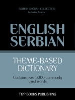 Theme-Based Dictionary: British English-Serbian - 5000 words