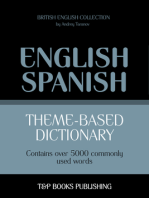 Theme-Based Dictionary: British English-Spanish - 5000 words