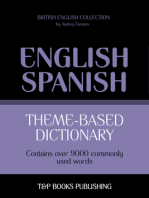Theme-Based Dictionary: British English-Spanish - 9000 words