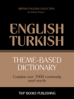 Theme-Based Dictionary: British English-Turkish - 7000 words